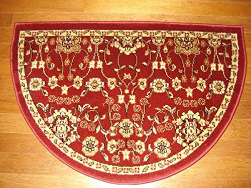 Ims 28625610012640 Hearth Rug Traditional Design Red Lodge