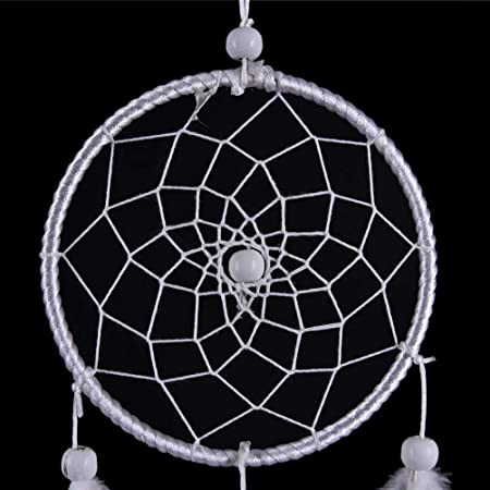 Amazon.com: INTVN Dream Catcher – Red circular hecha a mano ...