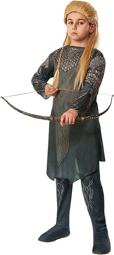Legolas disfraz para niños de el Hobbit Túnica y pantalones oliva ...