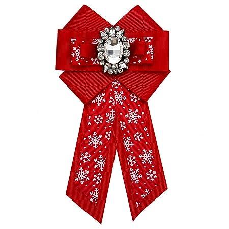 Broche Mujeres Cristal Rojo Bowknot Corbata Broche Patrón de ...