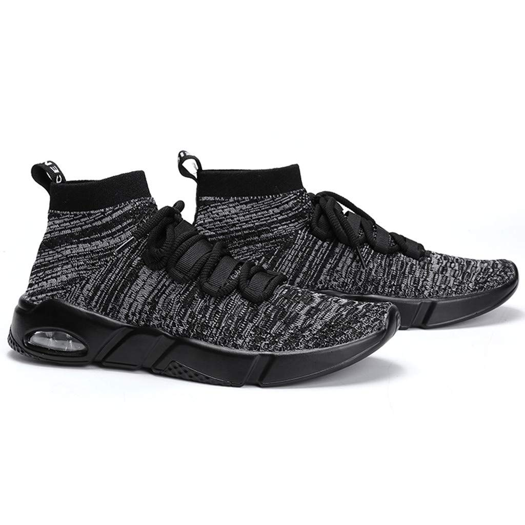 HYIRI Mens Knitted Sport Lightweight Running Shoes Socks Shoes Sneakers