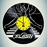 basalt dStudio – Wall Clock – Unique design Vinyl Clock – The Flash Handmade Vinyl Record Wall Clock Fun gift Vintage Unique Home decor Review