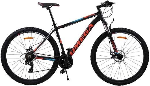 OMEGA BIKE Unisex - Bicicleta de montaña para Adultos, Color Negro ...