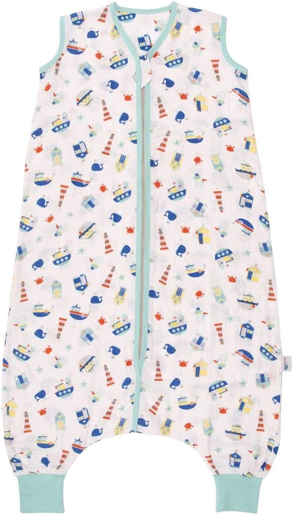 Boat Available in 4 Different Sizes Snooze Babys Sleeping Bag with Feet Muslin Summer Sleeping Bag 0.5 Tog