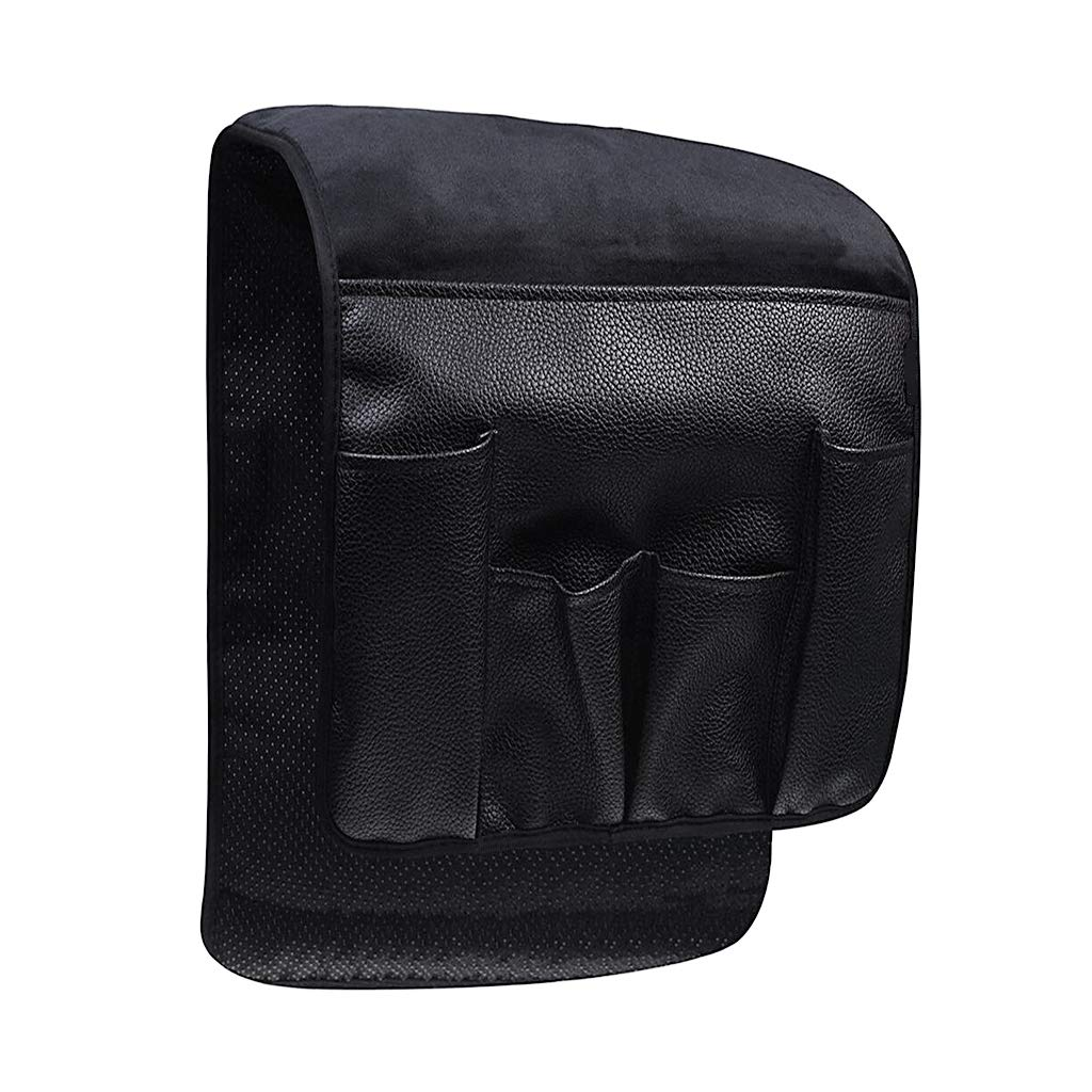 B Blesiya Waterproof Slip-Resistant Sofa Couch Chair Armrest Organizer Armchair Caddy Holder with 7 Pockets - Black