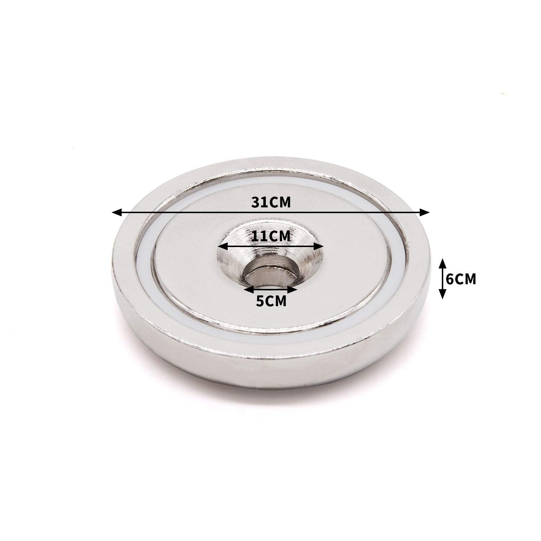 10 pezzi Svasata hole magneti al neodimio a disco 32x6 mm Forte permanente magneti in terre rare con 10 viti