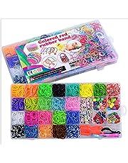 Loom Rubber Bands Bracelet Kit Loom Bands Kit Loom Bracelet Kit Loom Kits for Kids Bands Loom Kit Rubber Bands Refill Loom Kit Rubber Band Refill Mega Bracelet Making Kit