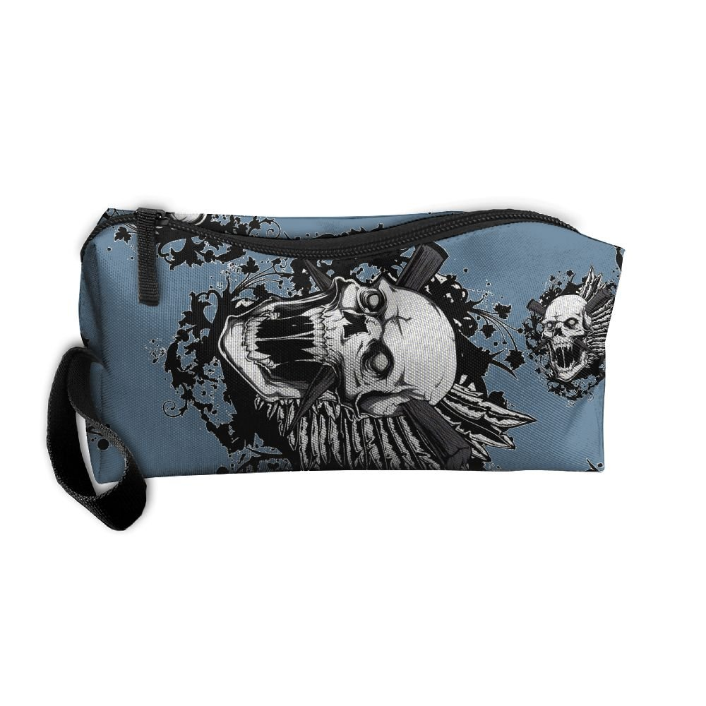 27849853bd40 best Tattoo Skull Unisex Portable Make-up Makeup Bags Cosmetic Bags ...
