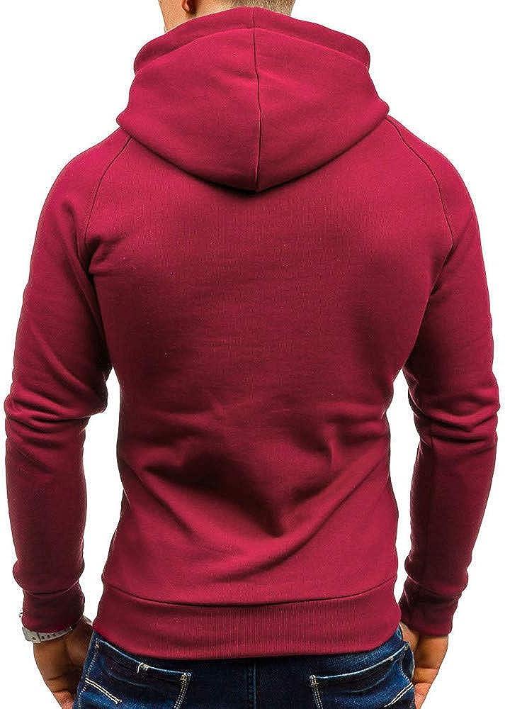 Mens Hoodies F/_Gotal Autumn Solid Hooded Long Sleeve Casual Sweatshirt Top Outwear Sports Hooded Sweatshirts