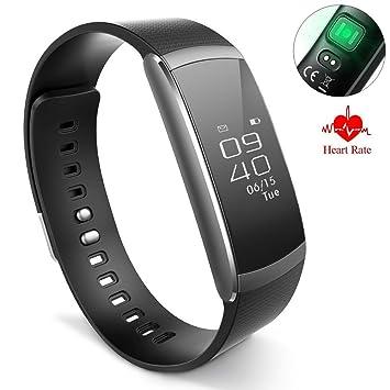OOLIFENG Fitness Tracker HR, Relojes Pulsómetros Impermeable Pulsera Inteligente Con Contador Pasos Para Niños Mujer Hombres,Black: Amazon.es: Deportes y ...