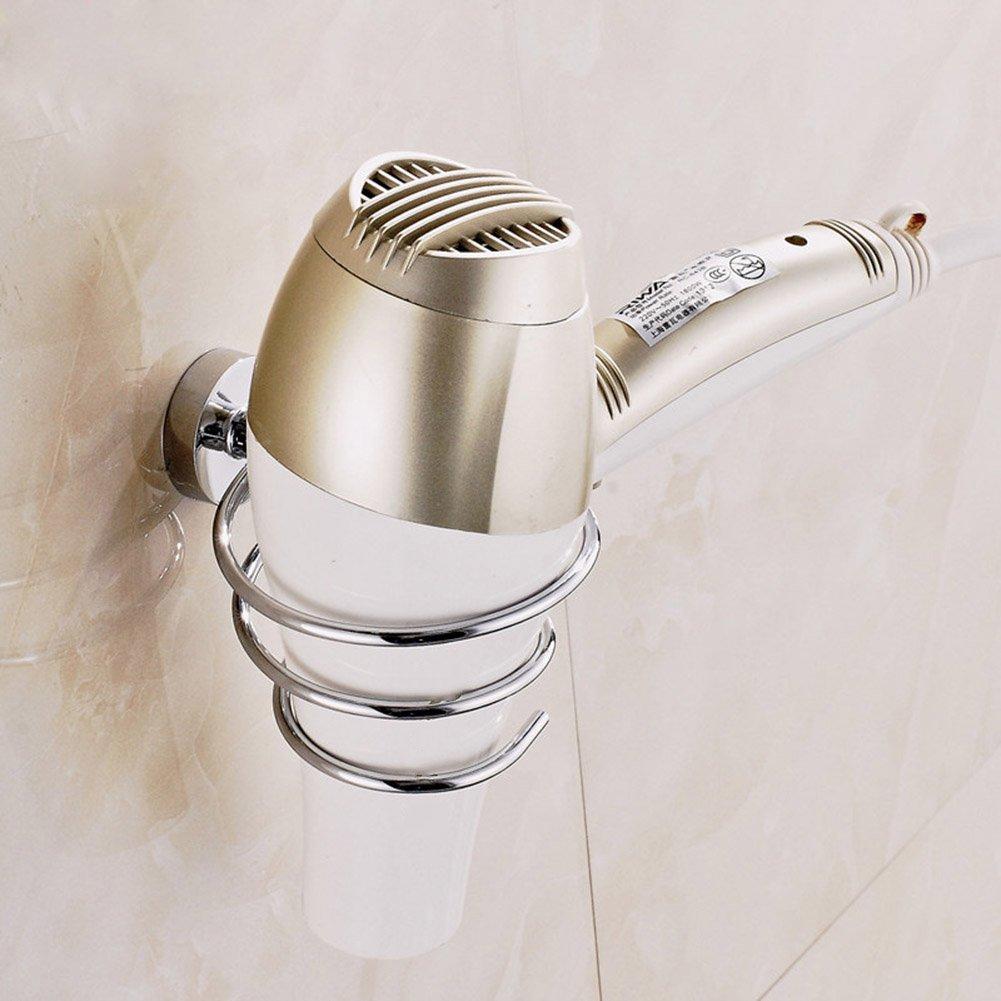 PerGrate Supporto per asciugacapelli, da parete, in acciaio INOX, per camera da letto, lavanderia, casa