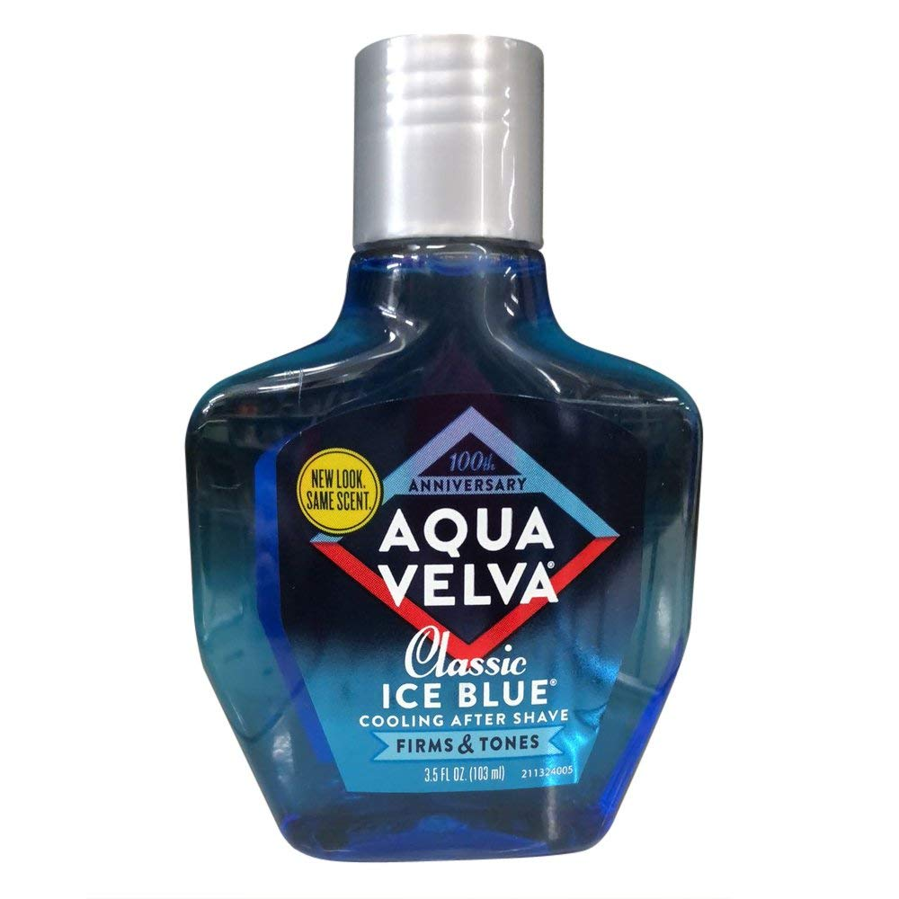 Aqua Velva Classic Ice Blue Cooling After Shave 3.50 oz (Pack of 4)