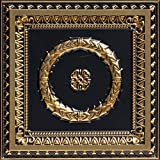 Laurel Wreath-Faux Tin Ceiling Tile - Antique Brass 25-Pack