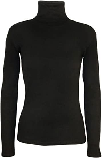 Uptown Girl Polo para Mujer de Manga Larga con Cuello Alto elástico Jersey Cuello Alto suéter tamaño 34-52: Amazon.es: Ropa y accesorios