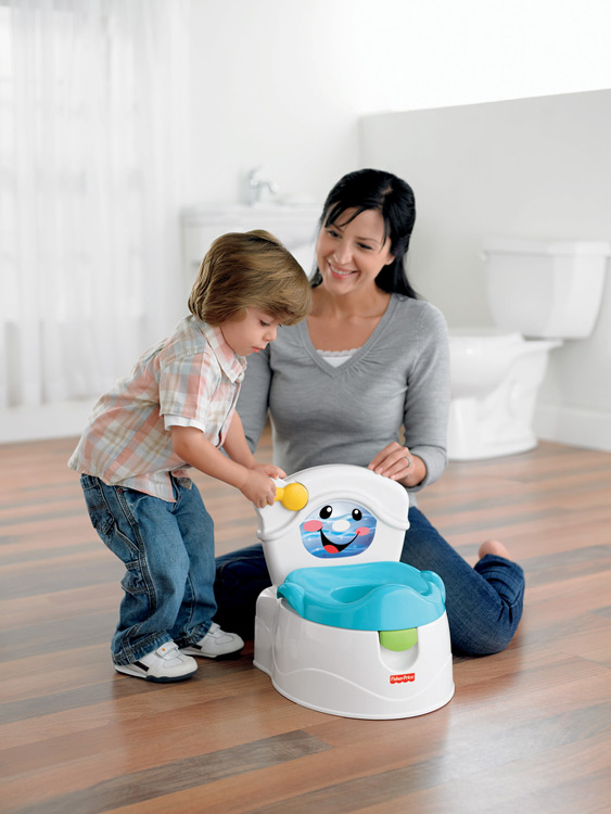 Amazon Com Fisher Price Learn To Flush Potty Toilet