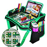 Car Seat Travel Tray, ZALALOVA Kids Waterproof Travel Tray Backseat Car Organizer with Sturdy Play Table Road Design Enables Snack Play Learn Drawing for Children Car Seats Strollers & Air Travel