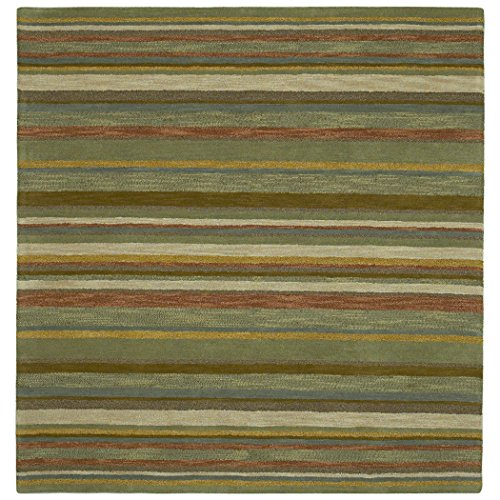 Bombay Home Scarlett Multi Stripes Hand-Tufted Rug (5'9 x 5'9 Square) - Multi Stripe Square Rug