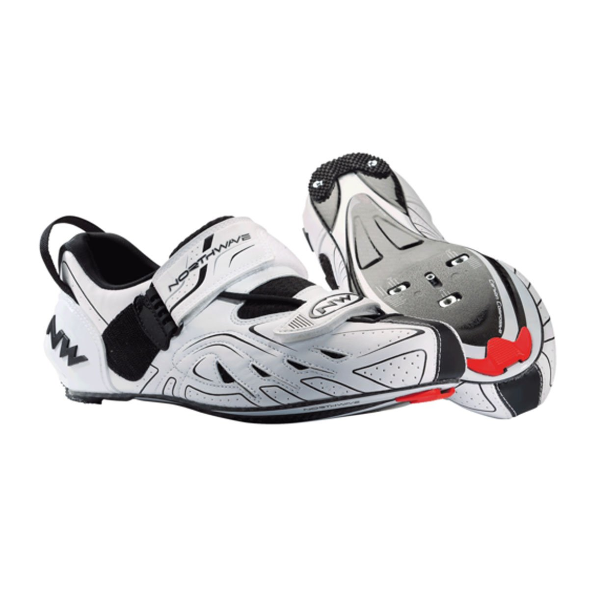 Northwave White-Black 2018 Tribute Cycling Shoe B0035A2GKO 8,5 US|White/Black