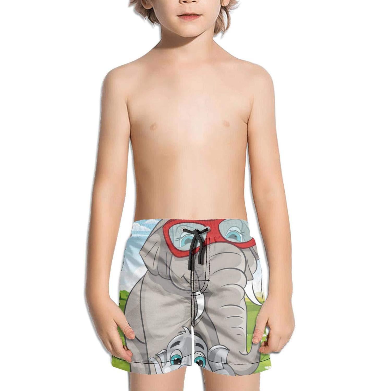 Boys Summer Casual Swimming Shorts Eid Mubarak Beach Board Shorts