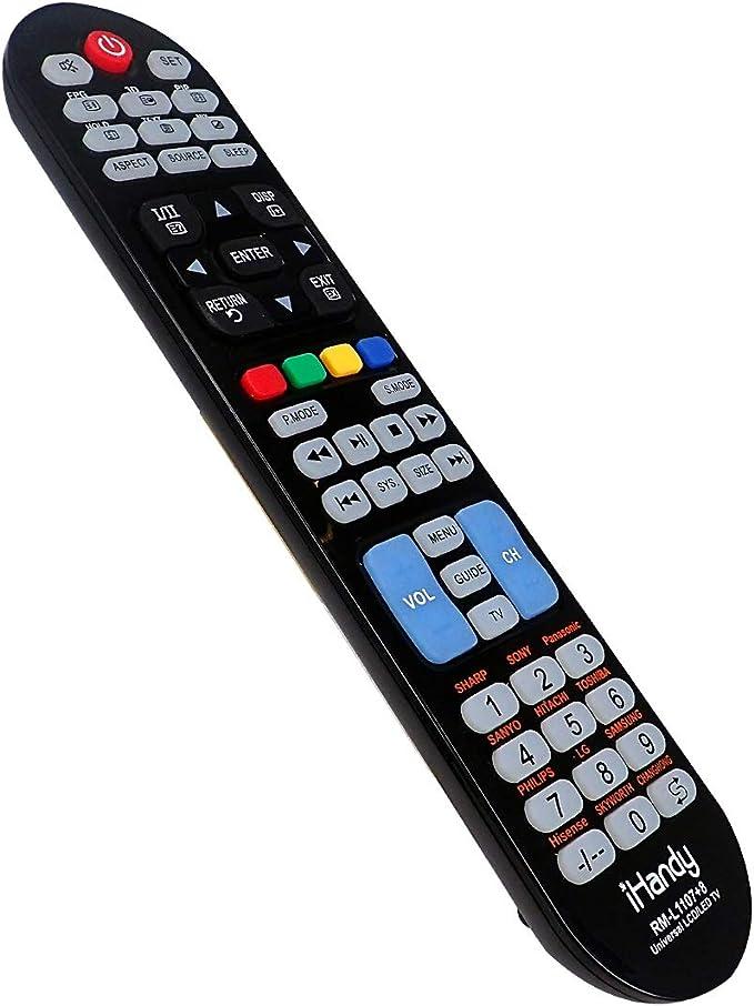 IHANDY RM-L1107+8 - Mando a Distancia Universal para televisores (LED, LCD, Plasma, Compatible con Todas Las Marcas de televisores), Color Negro: Amazon.es: Electrónica