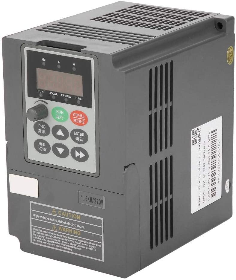 1.5kW Variable Frequency Drive Inverter 0-220V 7A 1 Phase to 3 Phase Output 2HP Vector Type VFD Drives Motor Inverter Converter