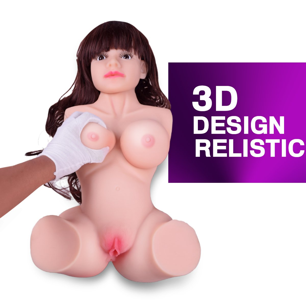 Fleshlike Skin Lifelike Solid Torso Real Doll Head Realistic Men's Adult Toys Fun 3 Channels Toy by HS-JT (Image #6)