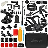 T.Face GoPro Action Camera Accessories Set Monopod Mount Kits for Go Pro Hero 6 5 4 Xiaomi Yi 4K SJCAM SJ5000 SJ7 Eken H9 Cam (XTK163)