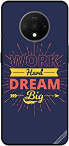 For OnePlus 7T Case Cover Work Hard Dream Big Arrow