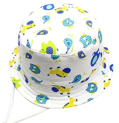e93b79c5502 Cloud Kids Chapeau De Soleil Bébé Anti UV Bob Coton Fille Garçon Loisir  Voyage Outdoor (