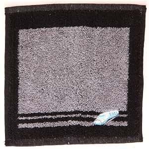 Linda toalla negra y gris con tren de Japón