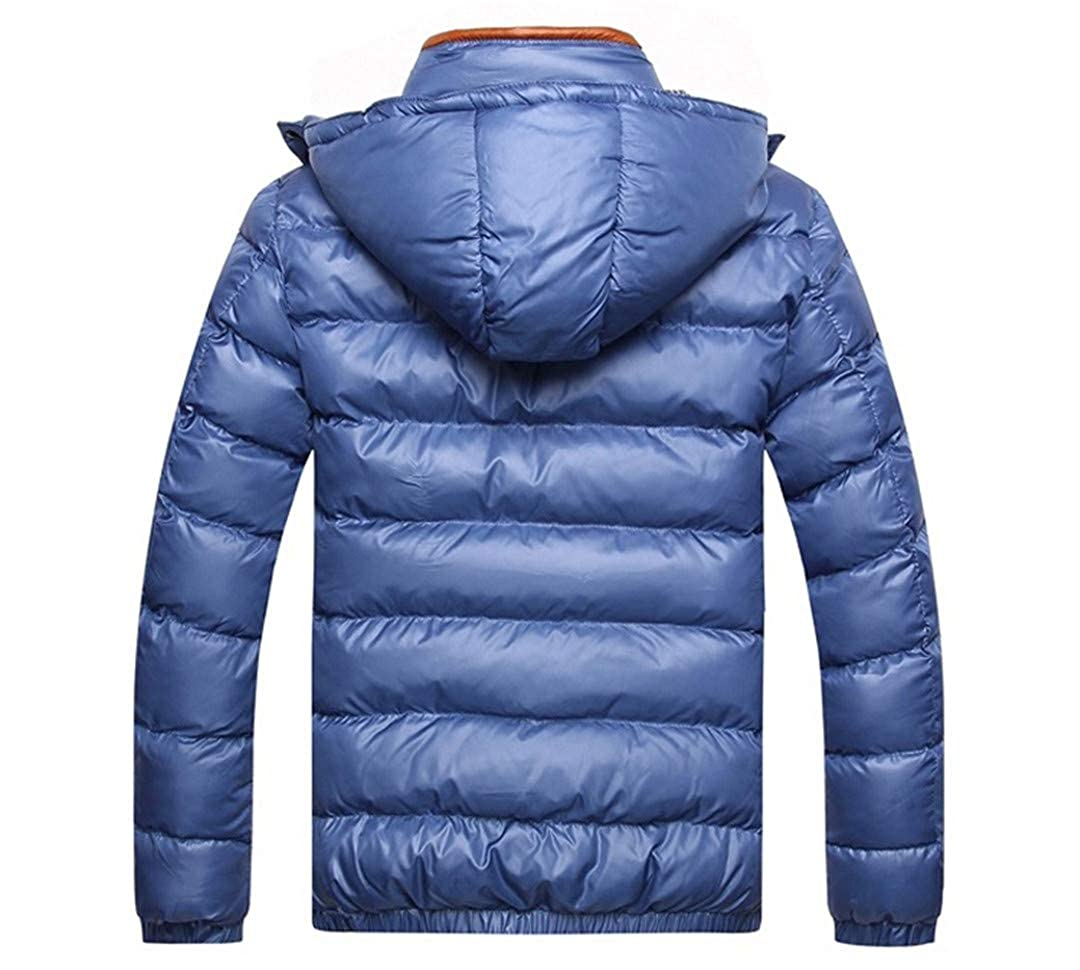 MT/&HEOST Mens Winter Jackets Casual Parkas Thick Thermal Shiny Coats Slim Fit