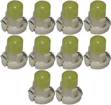 AERZETIX: 10 x Bombillas T3 LED 12V de salpicadero luz blanca