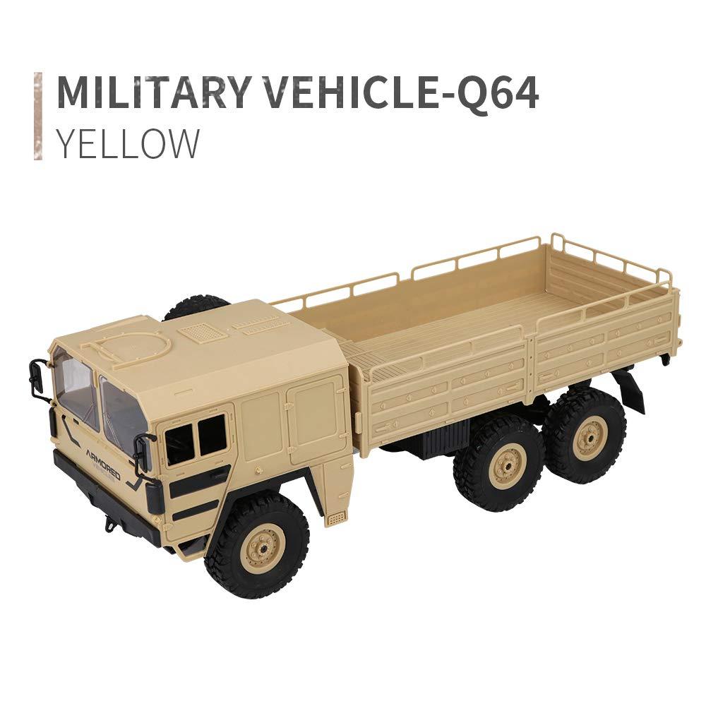 EisEyen JJRC Q64 - Carte telecomandate a 6 Ruote, 1 16 6WD Rc Auto Military Truck off-Road Rock Crawler giallo
