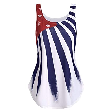 095a2d7a125652 Amazon.com: 4th of July Women's American Flag Camo Tank Tops Sleeveless  Stripes Patriotic T Shirts Independence Day Tank Tops: Beauty