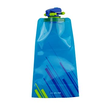 whx Elemento Botellas portátil ECO plegado Botellas de Agua Bolsa reutilizable de plástico botella de agua
