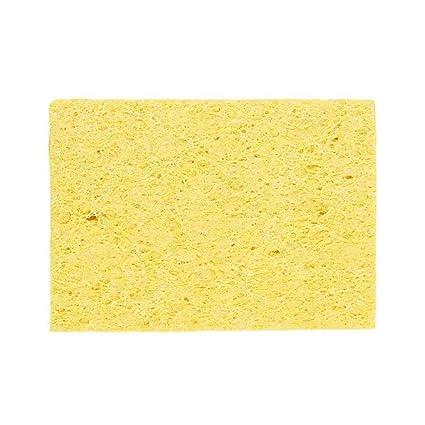 Laileya 10pcs Soldador Soldadura Consejo de Protección Ambiental de limpieza Esponja amarilla