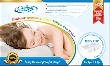 brand new contour memory foam pillow for kids incorporates latest technology 2 bonus products