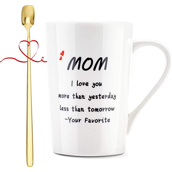 Mothers Day Gift Mom Funny Coffee Mug from Daughter Son Novelty Cup Birthday