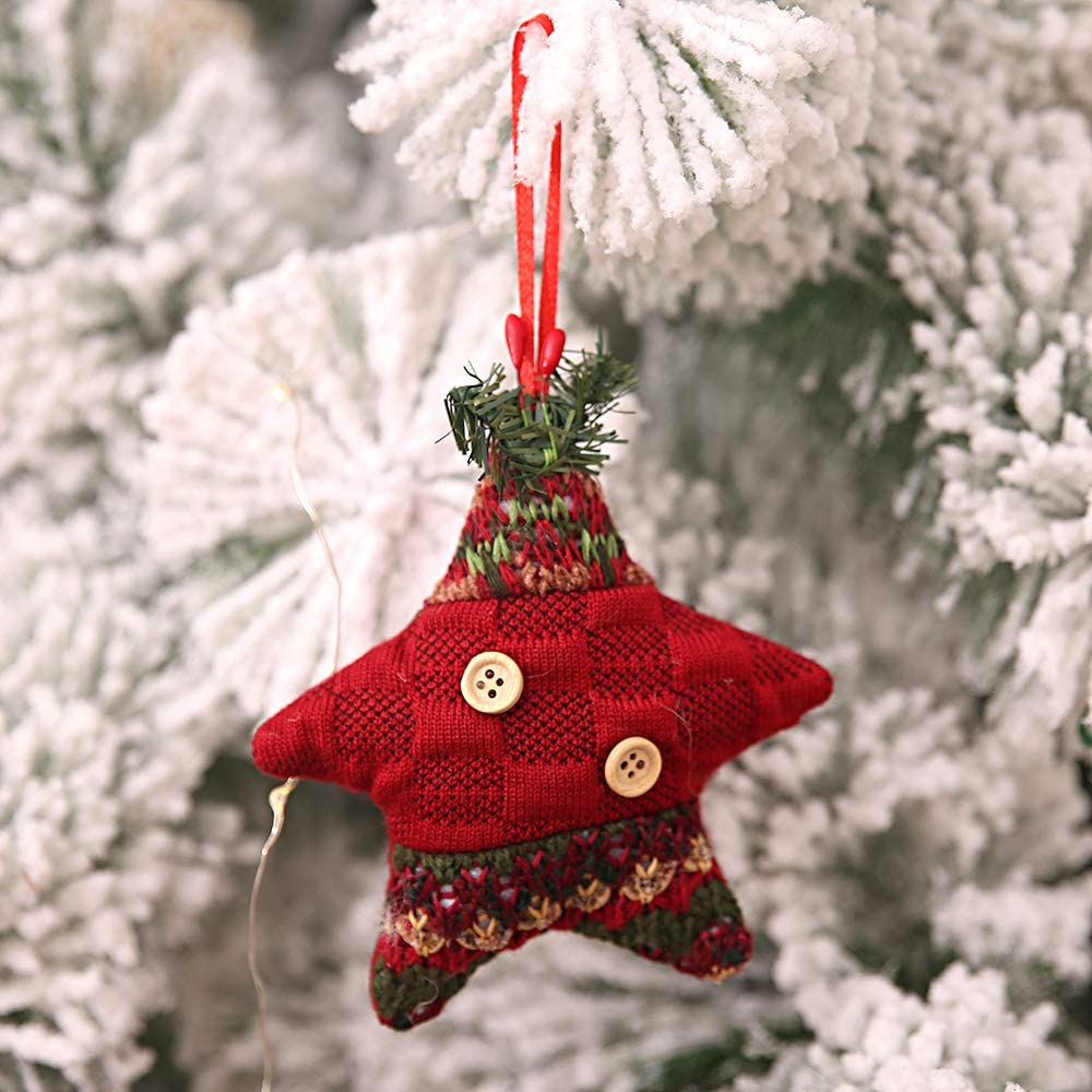 Kesote Conjunto de 6 Adornos de Árbol de Navidad Accesorios Decorativos de 6