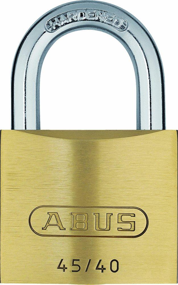20077 ABUS Messing-Vorhangschloss 45//50 mit 5 Schl/üsseln