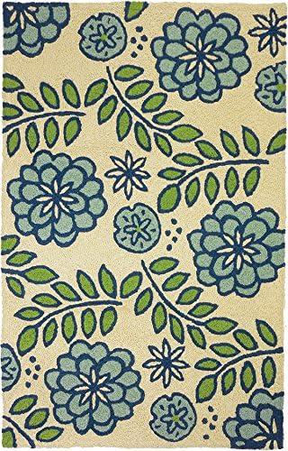 Blue Marigolds Living Room Rug