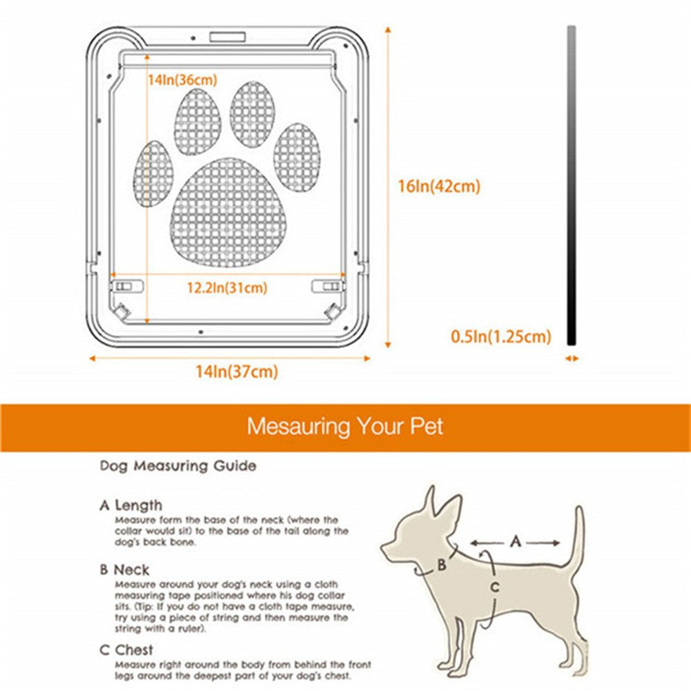 Homeself Pet Screen Door, Kitten Puppy Magnetic Self-Closing Automatic Slide Lock Mesh Window Screen Door, Lockable Safety Nets Entry Gate Protector for Small Medium Large Dogs Cats (Large) by Homeself (Image #7)
