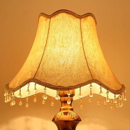 ZQH Algodón Plisado Sombra Clara, Tela Pantallas de lámparas Tambor Pantalla de lámpara Moderno cónico Pantalla de lámpara para lámpara de Mesa Cama Sostenedor de la Cubierta de la lámpara,Style5: Amazon.es: Hogar