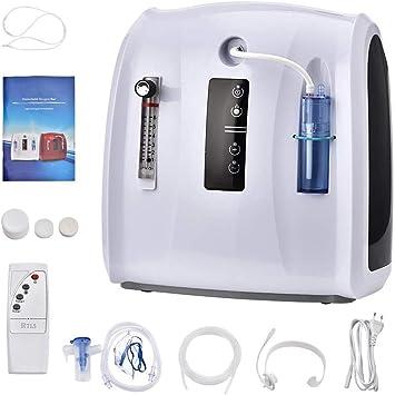 FANTASTOU 1-6L/min Máquina de oxígeno Ajustable, portátil, con ...