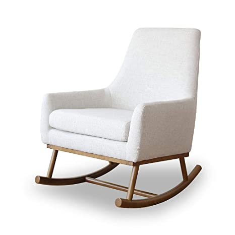 Fine Amazon Com Hyyty Y Single Sofa Rocking Chair Fabric Solid Pabps2019 Chair Design Images Pabps2019Com