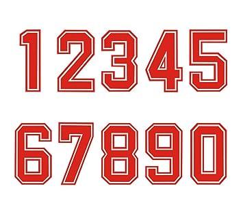 Números para planchar por transferencia de calor en camisetas deportivas fbc873d4c755a