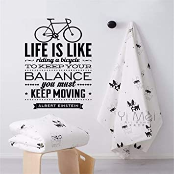 Bicicleta frase inglesa etiqueta de la pared arte de vinilo ...
