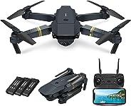 Quadcopter Drone with Camera Live Video, EACHINE E58 WiFi FPV Quadcopter with 120° FOV 720P HD Camera Foldable Drone RTF -25