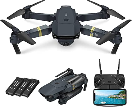 Amazon.com: Quadcopter Drone With Camera Live Video, EACHINE E58 WiFi FPV  Quadcopter with 120° FOV 720P HD Camera Foldable Drone RTF -25 mins flight  time, Altitude Hold, One Key Take Off/Landing,(3Pcs Batteries):