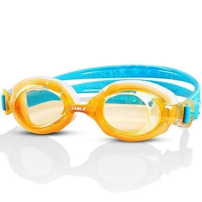 LE Lunettes de natation enfants imperméable à l'eau anti-buée enfants garçons et filles grande boîte HD lunettes
